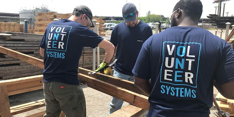 textron systems staff volunteering