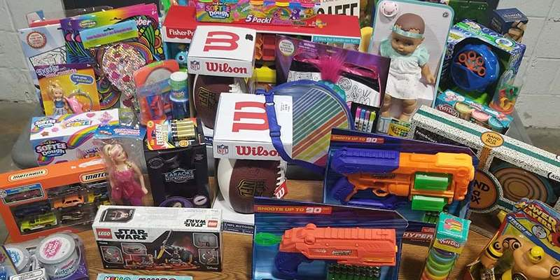 Toys collected for children's charity